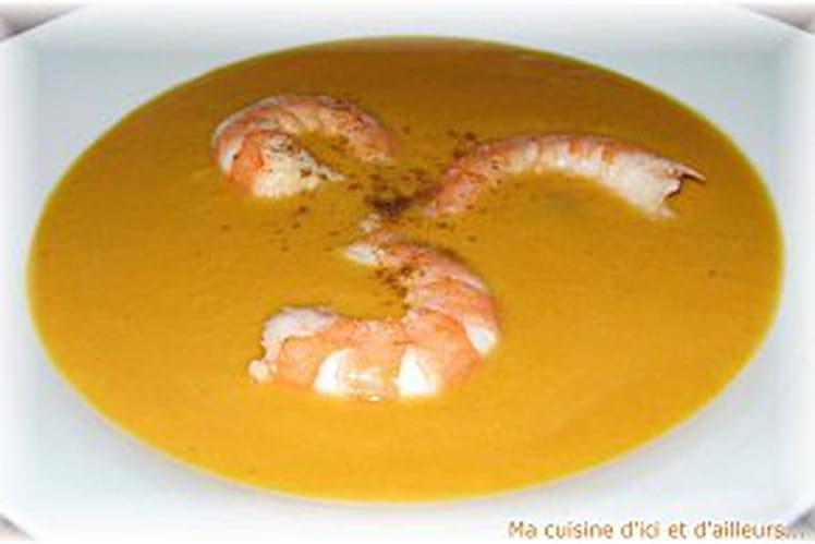 Soupe thaï au potiron et au curry