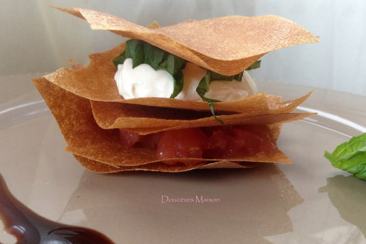 Mille-feuille chèvre tomate