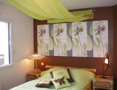 Une chambre exotique et colorée