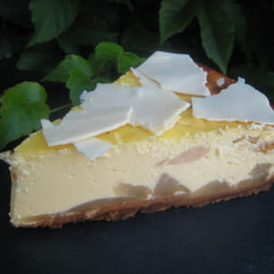 cheesecake poire-chocolat blanc