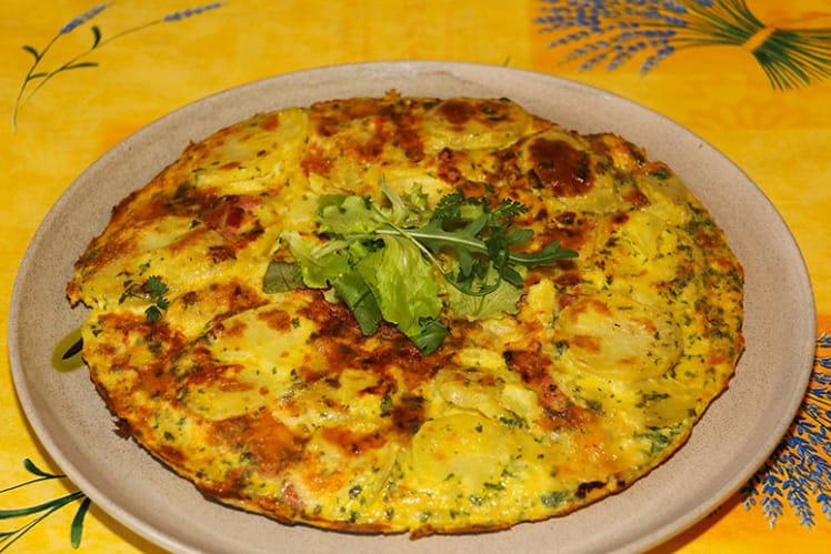 Tortilla savoyarde à la Tomme de Savoie