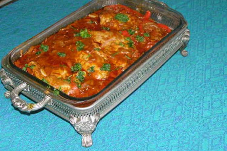 Sauté de dinde aux poivrons et tomates