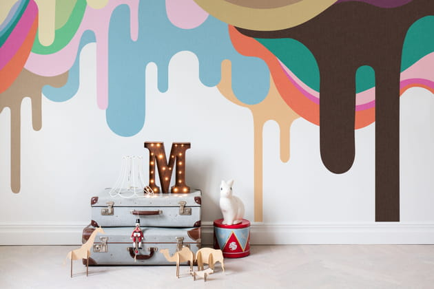 Papier peint panoramique Dripping Ice Cream par Rebel Walls