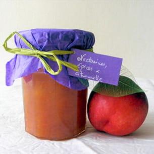 confiture de nectarines épices et citronnelle
