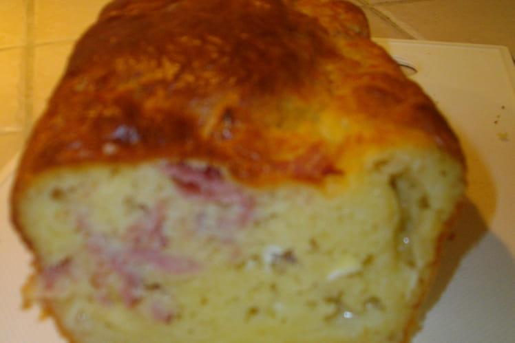 Cake au bacon et au chèvre