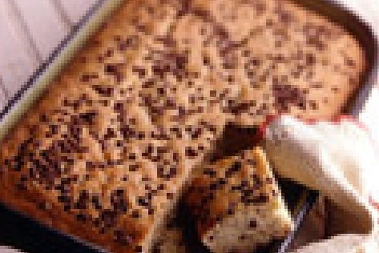 Gâteau à la banane et pépites de chocolat