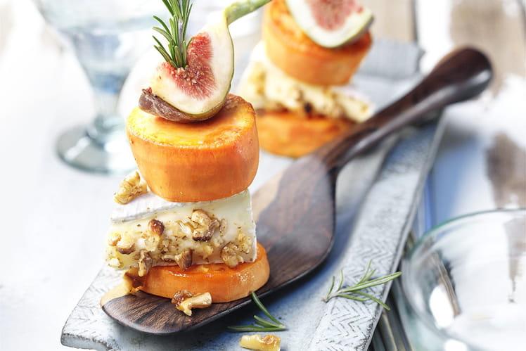 Monticules de patates douces aux figues