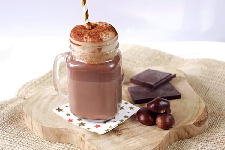 Vrai chocolat chaud et sa chantilly aux marrons