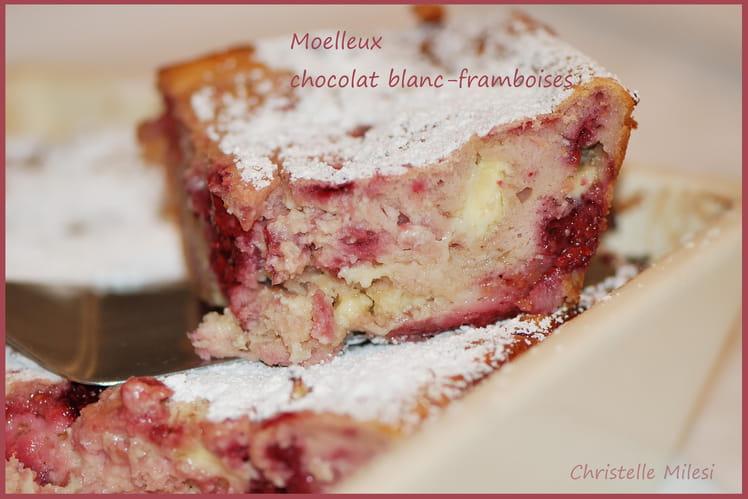 Moelleux chocolat blanc-framboises