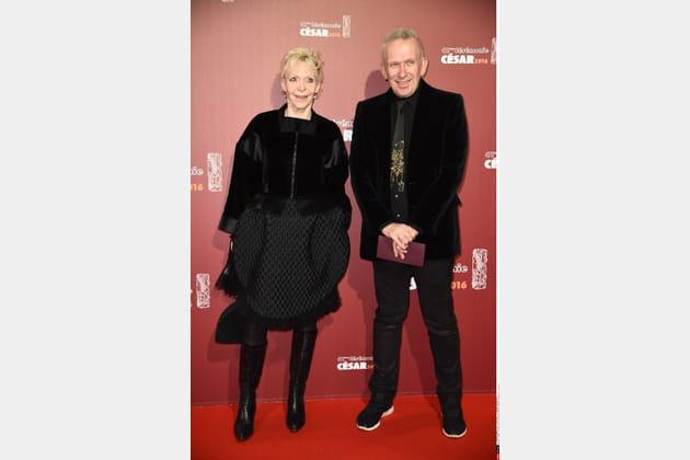 Danièle Thompson et Jean-Paul Gaultier, bien assortis