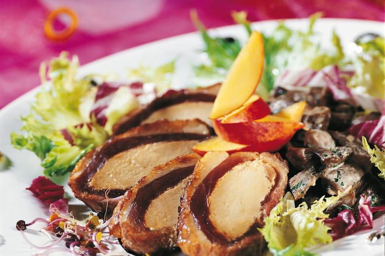 Magret de canard farci au foie gras