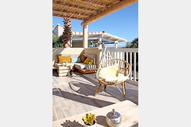 Une terrasse aux allures de salon