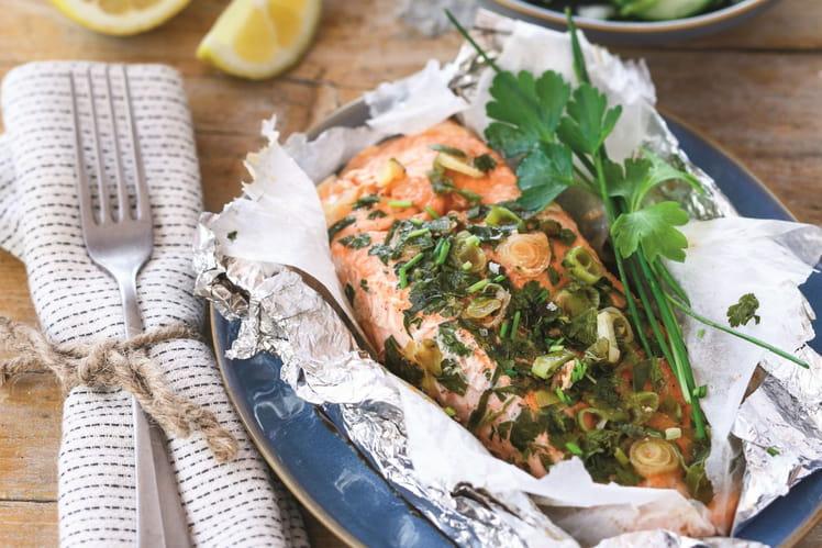 Papillotes de saumon au sirop d'érable