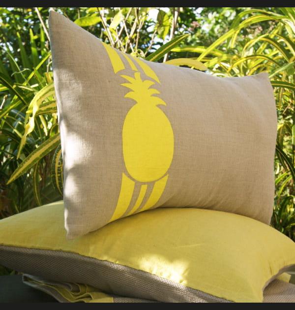 Coussin motif ananas Lina Forlino