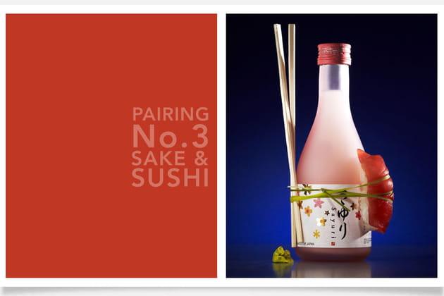Saké et sushi