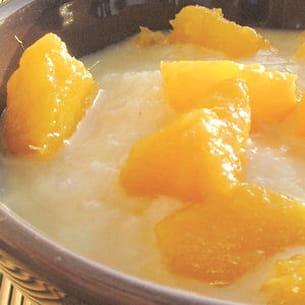 soupe fraîche de mangues au parfum des îles