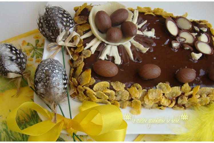 Gâteau de Pâques au chocolat express