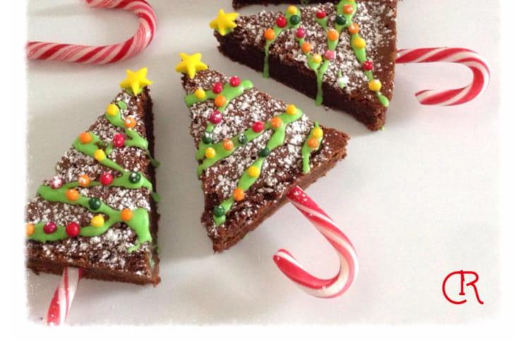 Sapins de Noël au chocolat