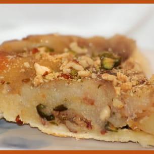 tarte renversée aux pommes et aux fruits secs