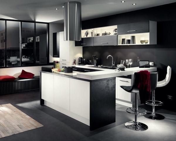ilot de cuisine ice dark de socoo 39 c. Black Bedroom Furniture Sets. Home Design Ideas