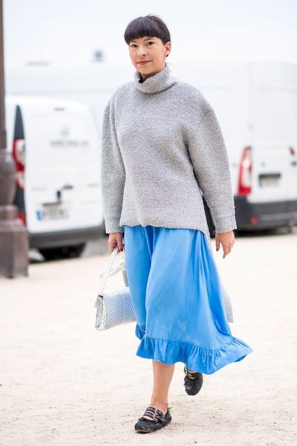 L'ensemble gros pull + jupe