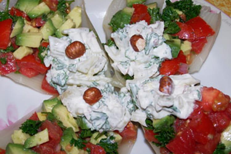 Tartare de légumes en gondoles