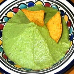 guacamole d'asperges vertes au chèvre