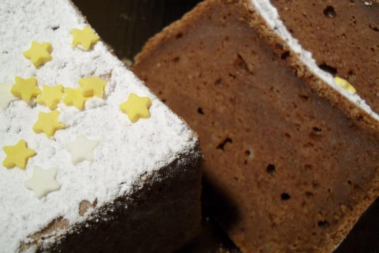 Bûche/pudding au chocolat