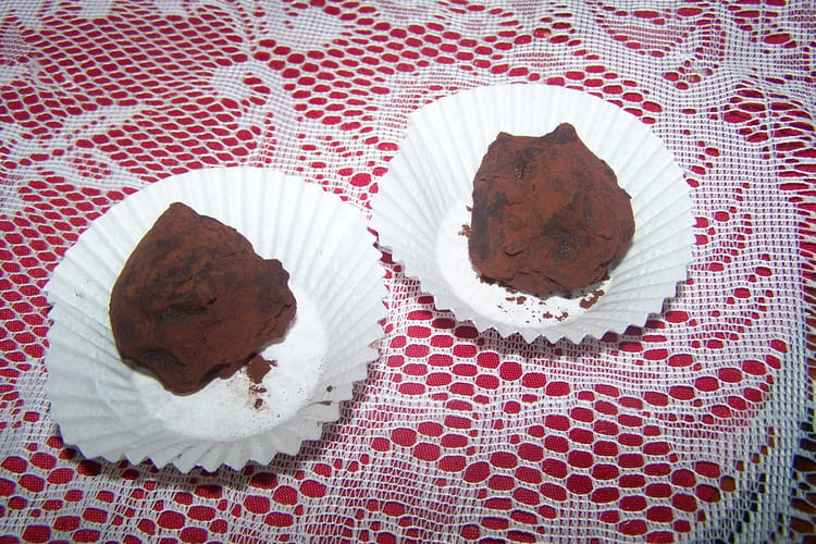 Truffes aux chocolat et gavottes
