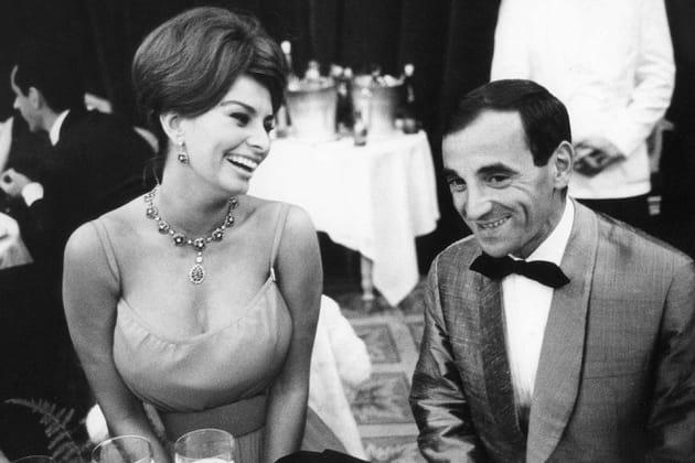 Sophia Loren et Charles Aznavour