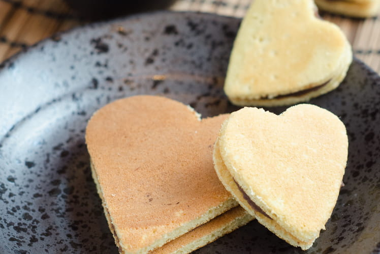 Dorayakis de Saint-Valentin
