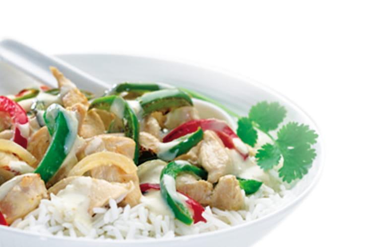 Poulet au philadelphia et au curry vert thaï