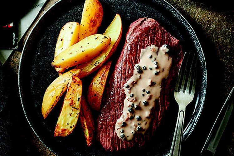 Steak au poivre et aux échalotes