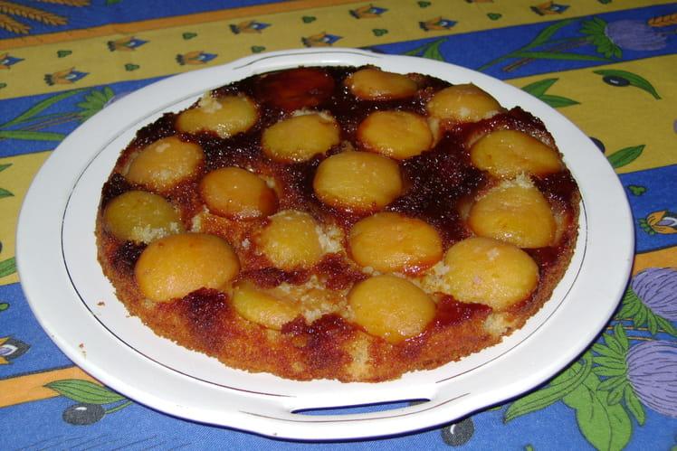 Gâteau moelleux aux abricots et rhum