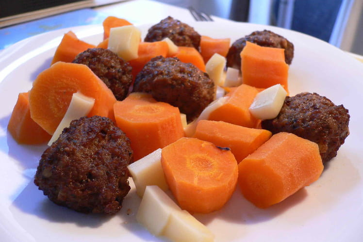 Boulettes d'agneau carotte-coriandre
