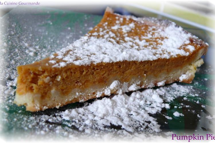 Pumpkin pie aux épices comme aux États-Unis