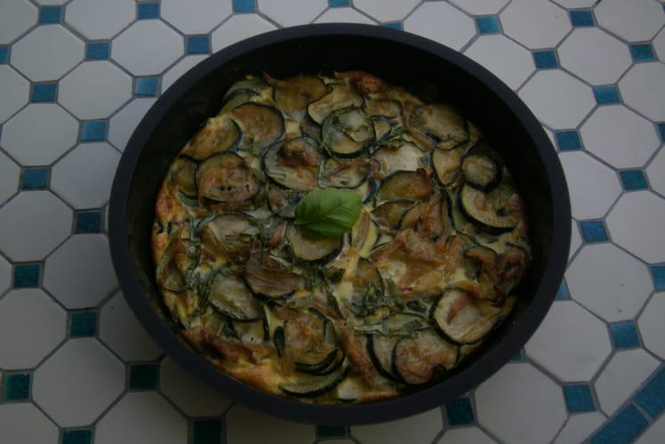 Flan de courgettes végétarien (oignon, ail et basilic)