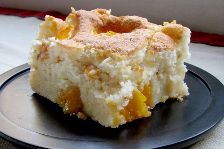 Clafoutis soufflé mangues-abricots
