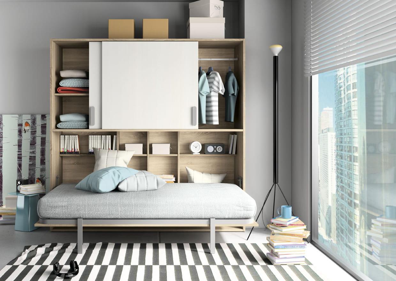 lit escamotable sohan par camif. Black Bedroom Furniture Sets. Home Design Ideas