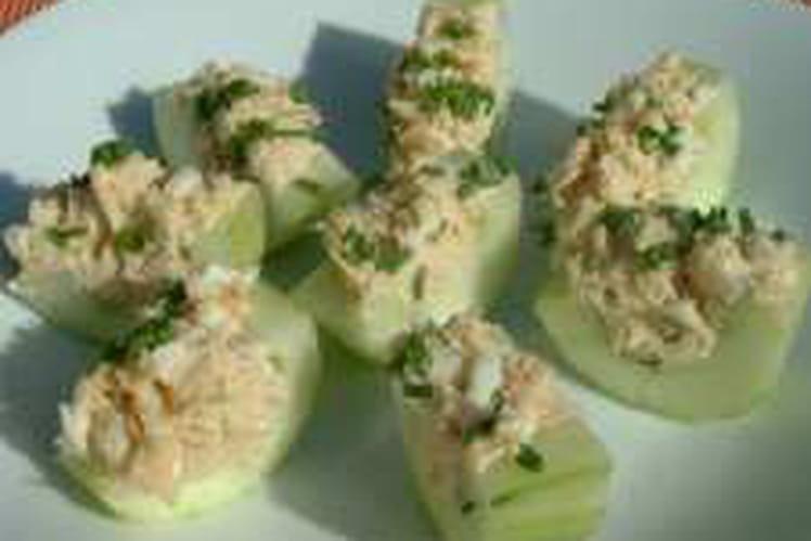 Concombre au thon