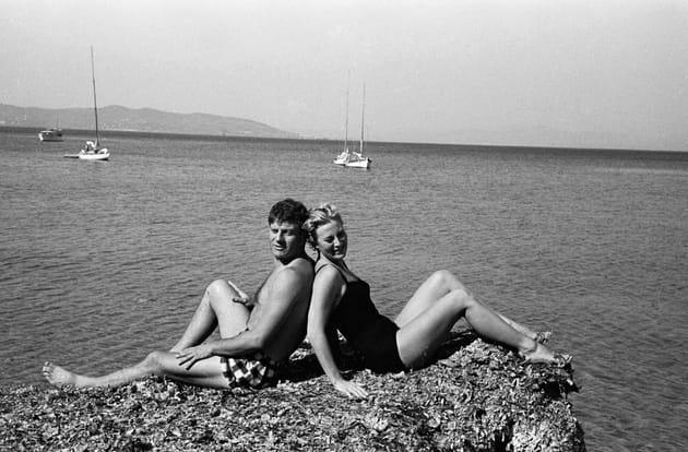 Rocher à deux et French Riviera avec Henri Vidal, 1958
