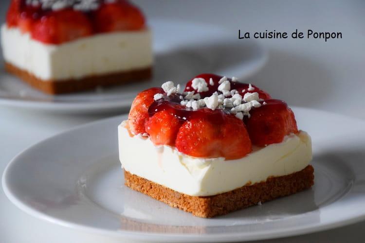 Carré de fraises aux spéculoos et mascarpone