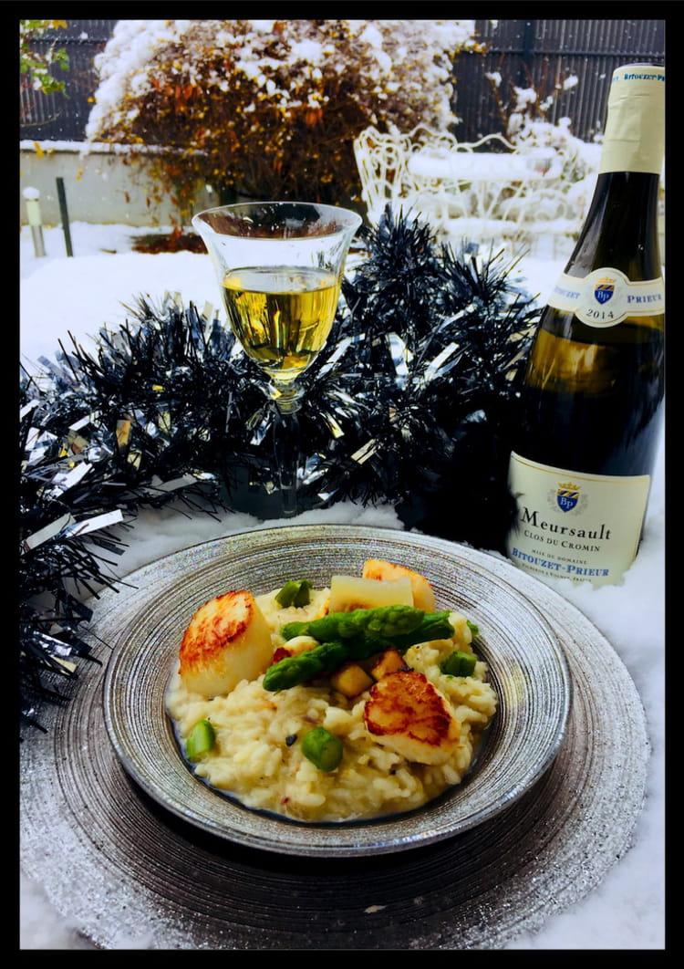 Recette de risotto saint jacques et asperges vertes - Cuisiner les asperges vertes ...