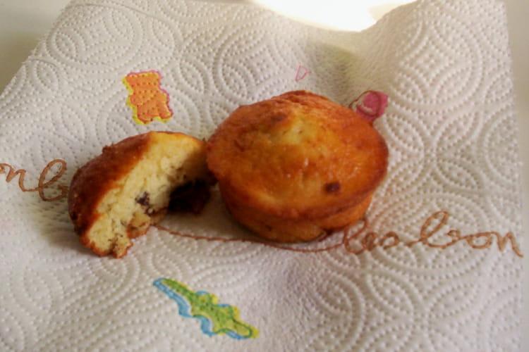 Muffins au yaourt à la poire et pépites de chocolat