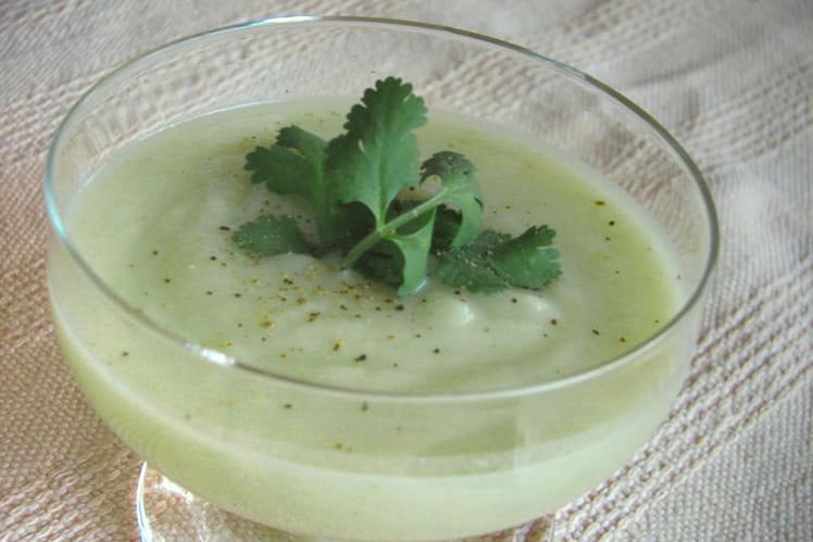 Velouté de jade (courgettes et patates douces)