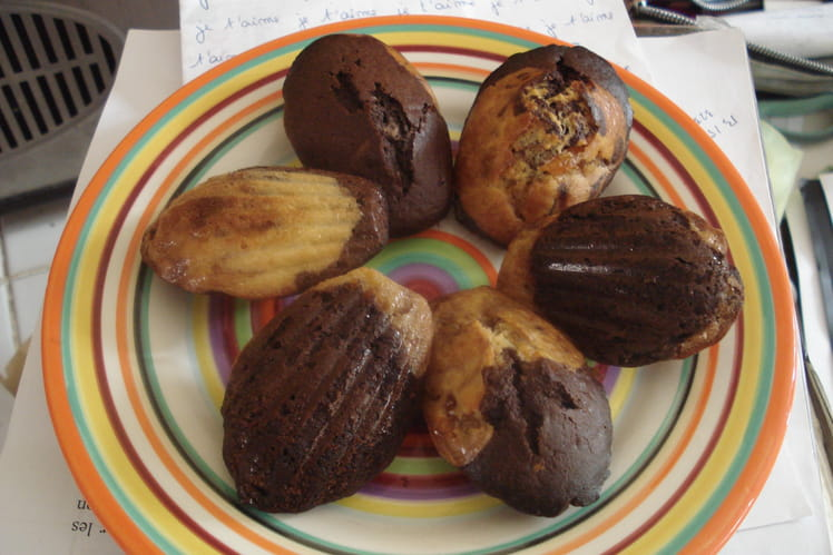 Madeleines marbrées à l'orange