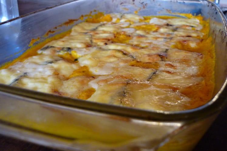 Gratin potimarron, morbier et graines de tournesol