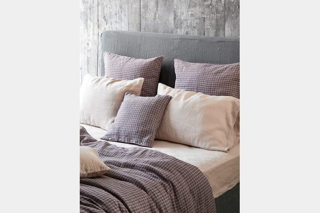 Parure de lit en lin lavé par merci