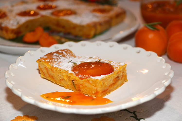 Fondant d'abricots au romarin