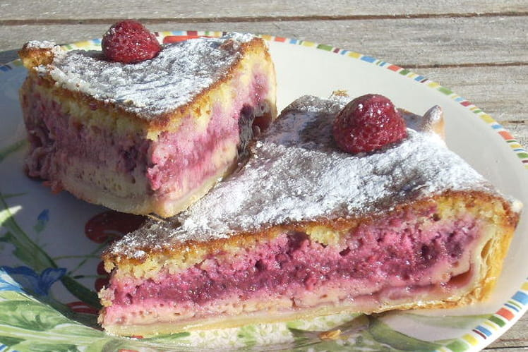 Pudding Bakewell aux framboises